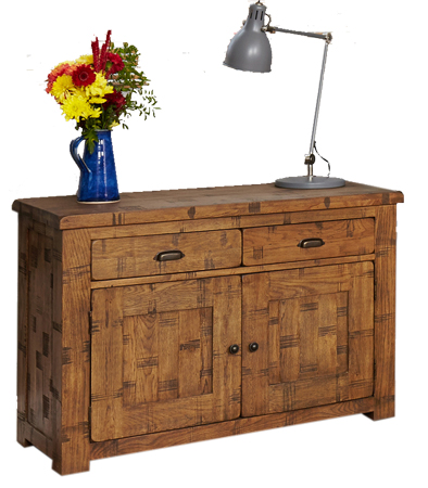 Baumhaus CRS02A Heyford Rough Sawn Oak Small Sideboard