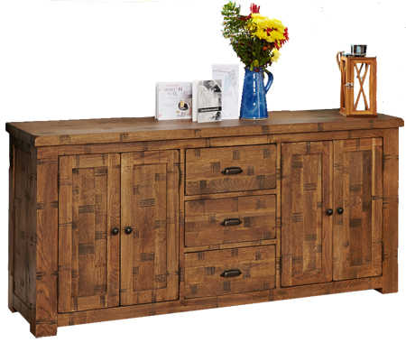Baumhaus CRS02C Heyford Rough Sawn Oak Large Sideboard