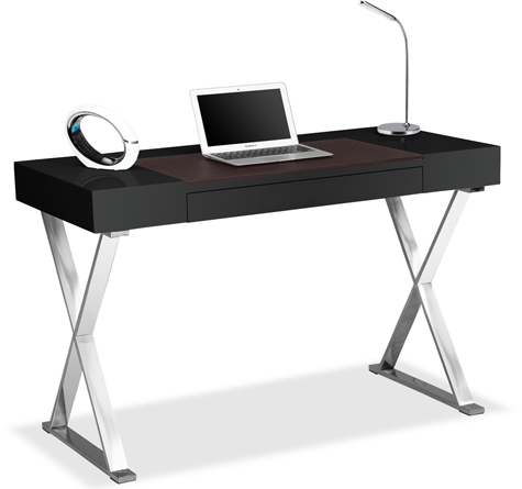 Centurion Supports ADONIS Gloss Black Ergonomic Home Office Luxury Computer Desk