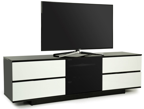 Centurion Supports AVITUS ULTRA BeamThru Black/White Tv Cabinet