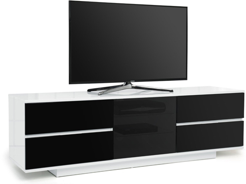 Centurion Supports AVITUS ULTRA BeamThru White/Black Tv Cabinet