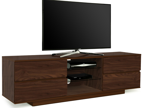 Centurion Avitus Walnut with 4-Walnut Drawers TV Stand-As New