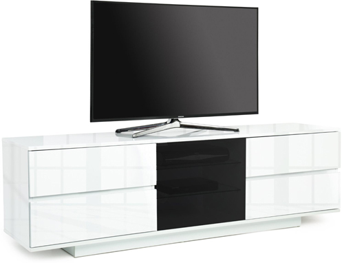 Centurion Supports AVITUS ULTRA BeamThru Gloss White TV Cabinet