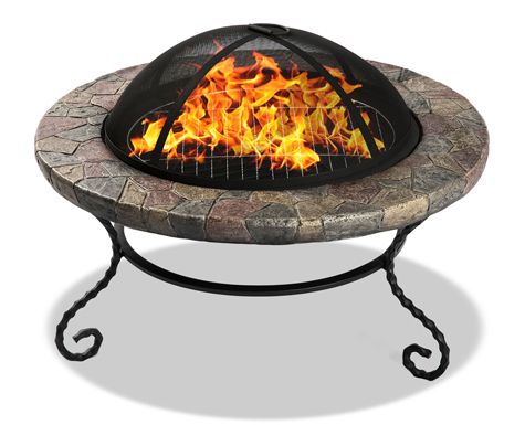 Centurion Supports Fireology AZURE Opulent Garden & Patio Heater Fire Pit Brazier and Barbecue