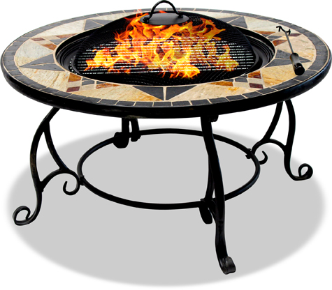 Centurion Supports Fireology CALAGORA Garden & Patio Heater Fire Pit, Coffee Table, Barbecue & Ice Bucket