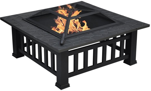 Centurion Supports GEDI Multi-Functional Black Outdoor Fire Pit- AS NEW