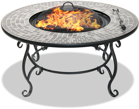 Centurion Supports Fireology GINESSA Garden & Patio Heater Fire Pit, Coffee Table, Barbecue & Ice Bucket