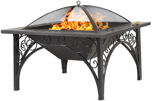 Centurion Supports KOJIN Multi-Functional Black Outdoor Fire Pit - AS NEW
