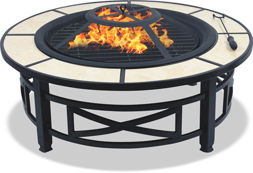 Centurion Supports NUSKU Multi-Functional Black Outdoor Fire Pit - AS NEW