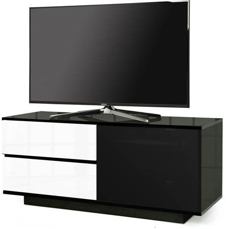 Centurion Supports Gallus Ultra Black with 2-White Drawers Stand