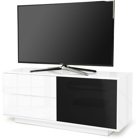 Centurion Supports Gallus Ultra BeamThru Gloss White TV Stand