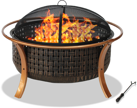 Centurion Supports Fireology MONTAGUE Elegant Garden & Patio Heater, Fire Pit, Barbecue Copper