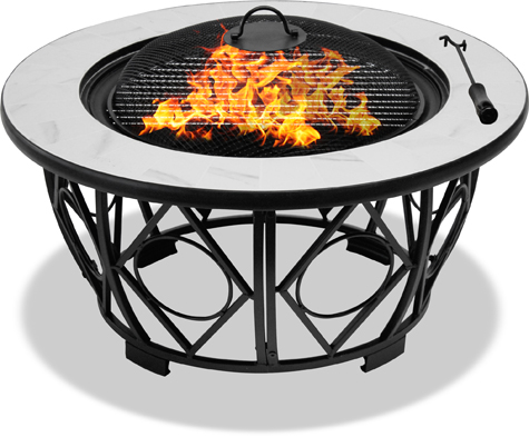 Centurion Supports NAVARO Premium Multi-Functional Garden & Patio Fire Pit, Brazier