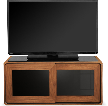 Centurion Supports Nora Walnut Black TV Cabinet - As New
