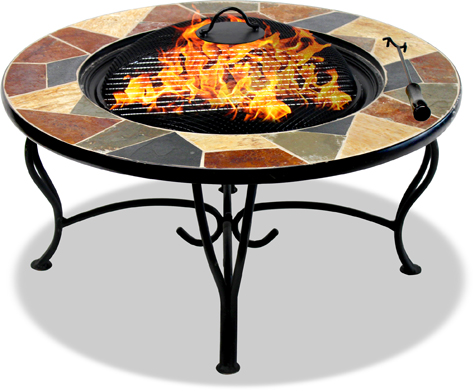 Centurion Supports Fireology SANTIAGO Garden & Patio Heater Fire Pit Brazier, Coffee Table, Barbecue