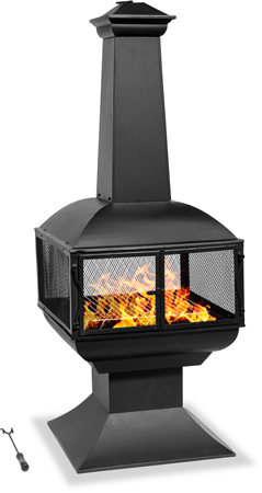Centurion Supports Fireology TAURUS Modern Garden & Patio Chimenea, Heater, Fire Pit and Barbecue