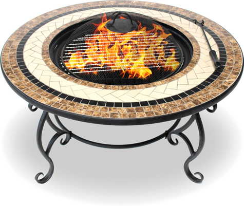 Centurion Supports Fireology TOPANGA Garden & Patio Heater Fire Pit Brazier, Table, Barbecue & Ice Bucket