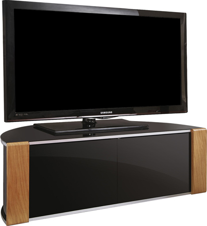 MDA Designs Sirius 850 Oak/Walnut Reversible BeamThru TV Cabinet