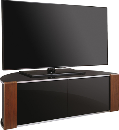 MDA Designs Sirius1200 Walnut/Oak Reversible BeamThru TV Cabinet - FULLY ASSEMBLED