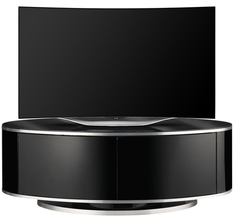"MDA Designs Luna BeamThru Black 26""-52"" LCD/OLED/LED TV Cabinet - FULLY ASSEMBLED"