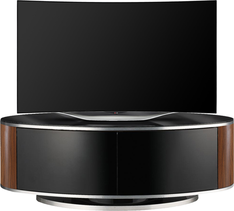 "MDA Designs Luna BeamThru Walnut 26""-52"" LCD/OLED/LED TV Cabinet"
