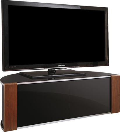 MDA Sirius1200 Walnut/Oak Reversible BeamThru TV Cabinet- As New