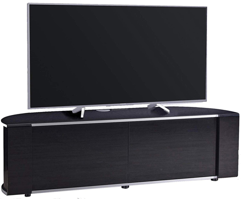 "MDA Designs Sirius 1600 Gloss Black Beam Thru 70"" LED/LCD TV Cabinet"