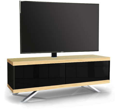 MDA Designs TUCANA 1200 HYBRID OAK COMPLETE Remote-Friendly Oak Cantilever TV Cabinet