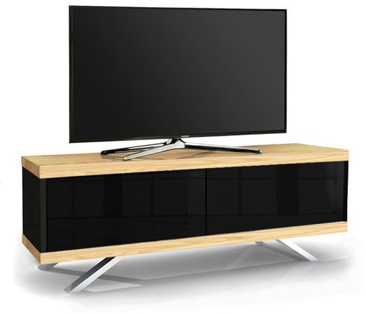 MDA Designs TUCANA 1200 HYBRID OAK Remote-Friendly Oak TV Cabinet