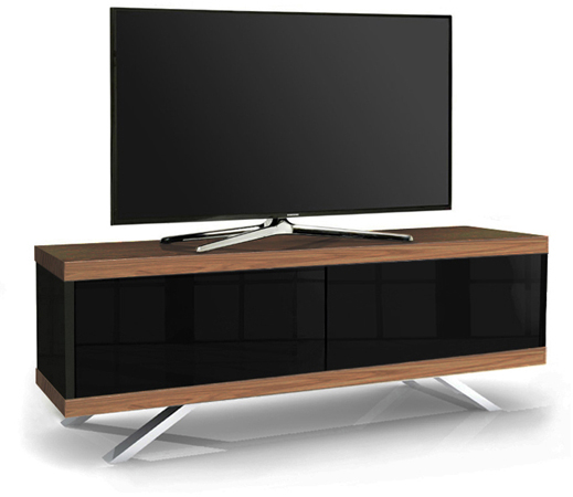 MDA Designs TUCANA 1200 HYBRID WALNUT Remote-Friendly Walnut TV Cabinet