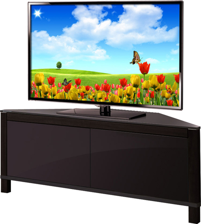"MDA Designs Volans 42"" Black Reversible Panel TV Stand-AS NEW"